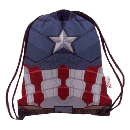 Marvel Comics Civil War Armor Captain America Drawstring Cinch Backpack