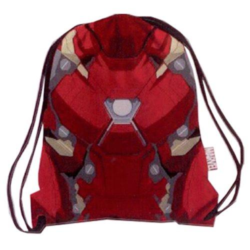 Marvel Comics Civil War Armor Iron Man Drawstring Cinch Backpack