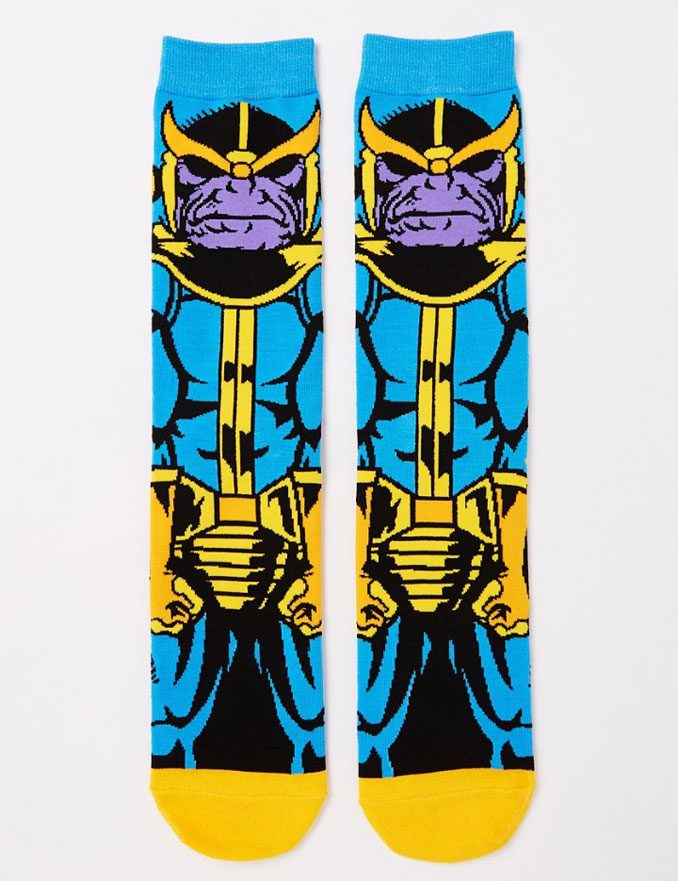 Marvel Comics Classic Thanos Crew Socks