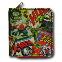 Marvel Comics Collage Zip Wallet