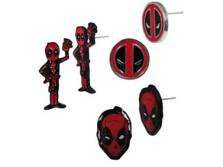 Marvel Comics Deadpool Earrings 3-Pack Set