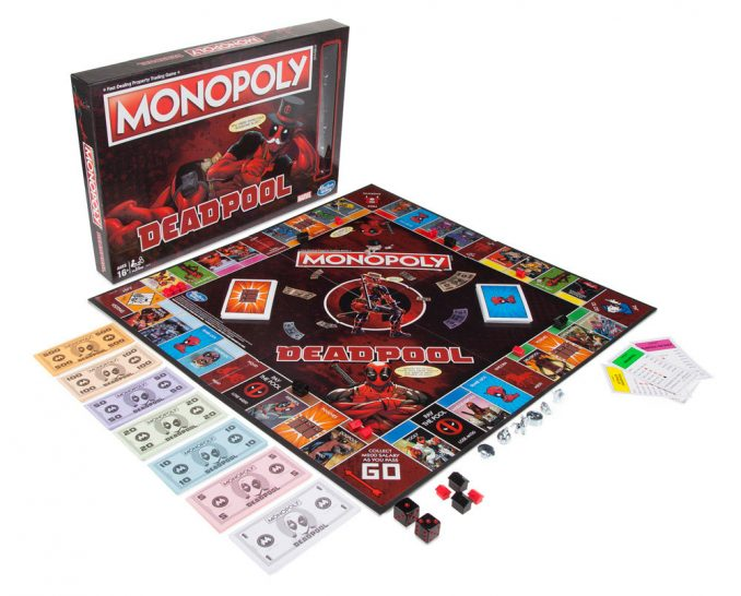 Marvel Comics Deadpool Edition Monopoly Game