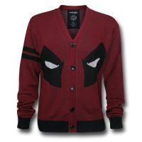 Marvel Comics Deadpool Face Cardigan
