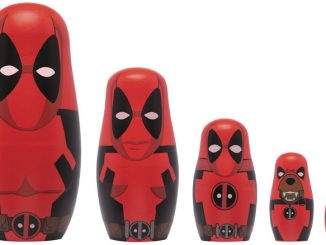 Marvel Comics Deadpool Wood Nesting Doll Set