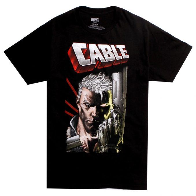 Marvel Deadpool Cable Close Up T-Shirt