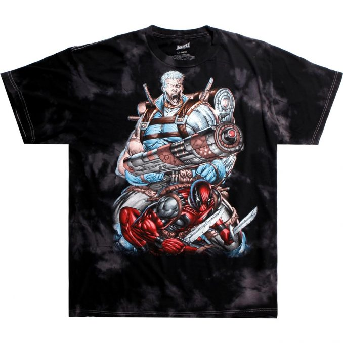 Marvel Deadpool Cable Cloud Wash T-Shirt