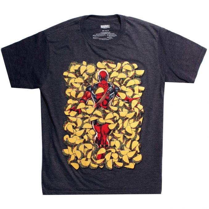 Marvel Deadpool Covered In Tacos T-Shirt