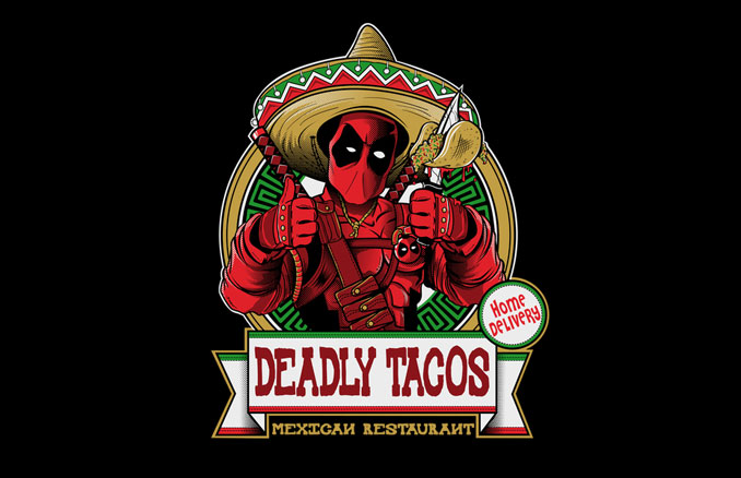 376cf5fb6 Awesome Deadpool Deadly Tacos T-Shirt