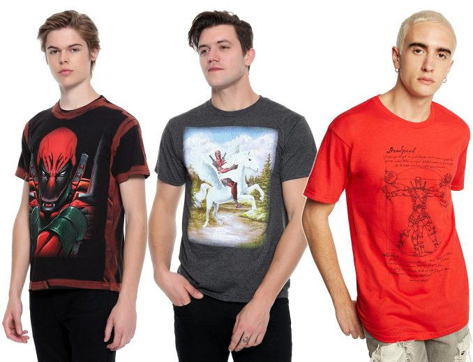 Marvel Deadpool Exclusive T Shirts Hot Topic