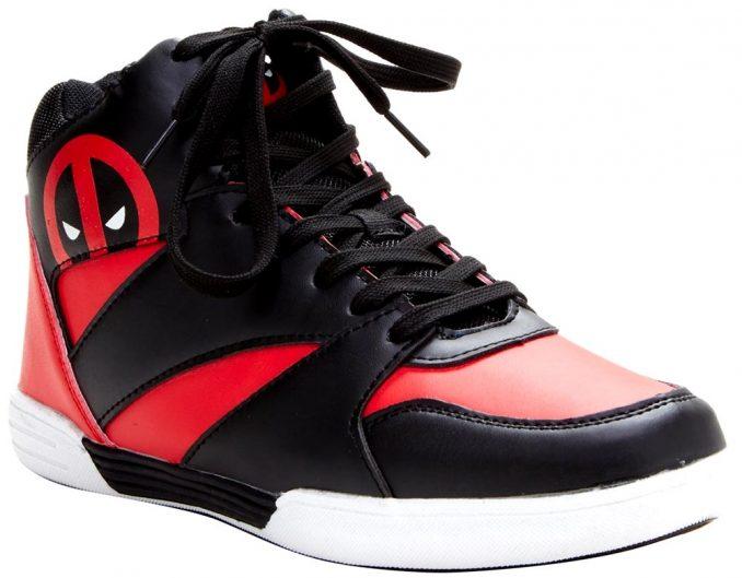 Marvel Deadpool Hi-Top Basketball Shoes
