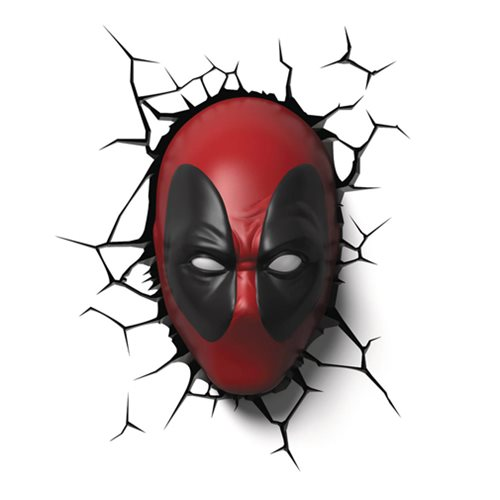 Marvel Deadpool Mask 3D Light