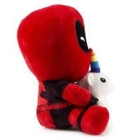 Marvel Deadpool Riding a Unicorn Plush Side
