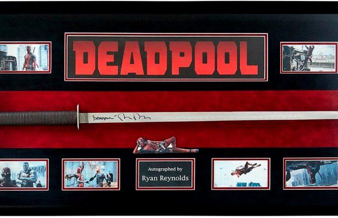 Marvel Deadpool Signed Ryan Reynolds Katana