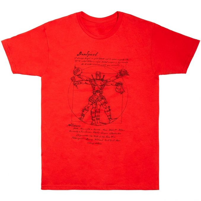 Marvel Deadpool Vitruvian Man T-Shirt