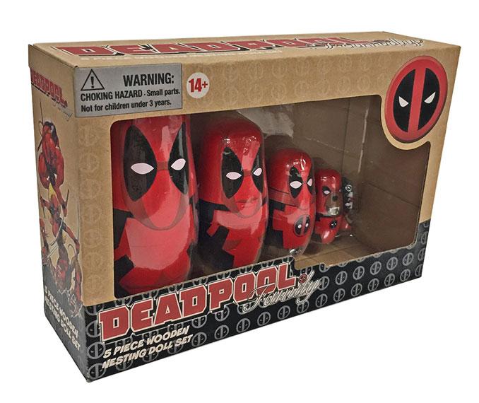 Marvel Comics Deadpool Wood Nesting Doll Set