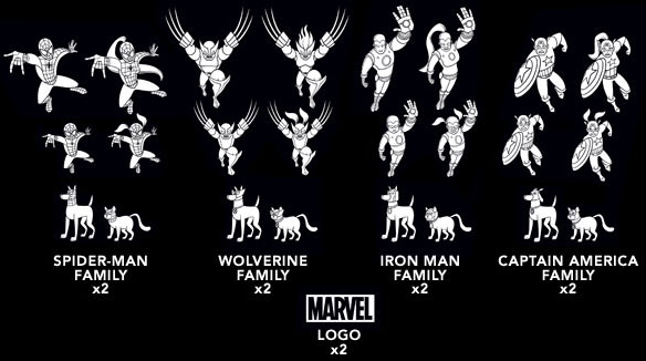 Marvel Family Car Decals