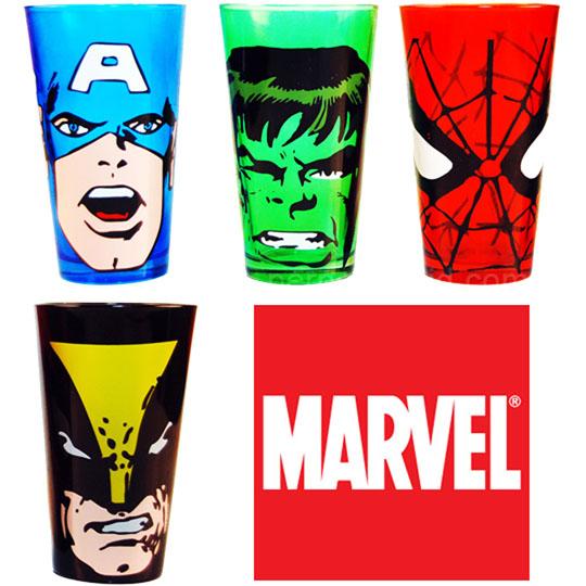 Marvel Glass Tumbler Set