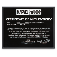 Marvel Groot Puppet Glass Certificate of Authenticity