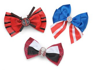 Marvel Comics Deadpool, Captain America and Spider-Gwen Hair Bows