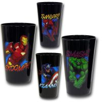 Marvel Heroes Black Cooler Glass Set