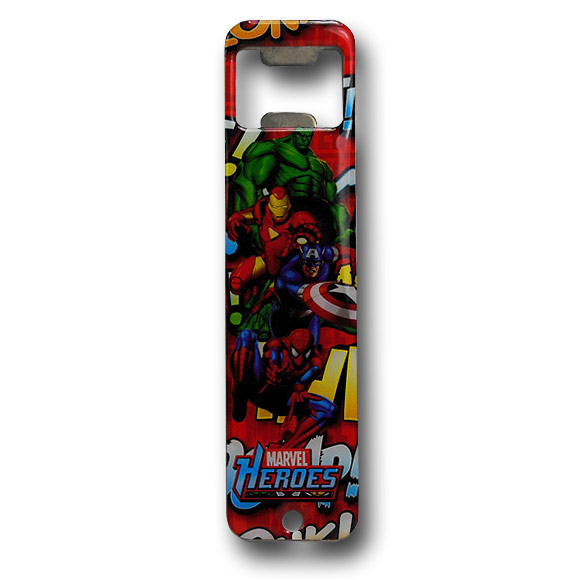 Marvel Heroes Collage Bottle Opener