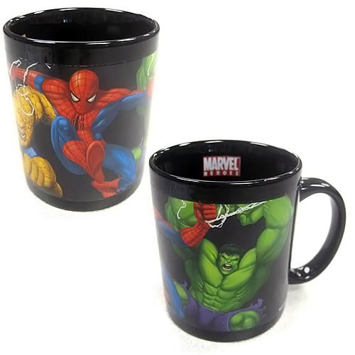 Marvel Heroes Color Change Decal Mug Marvel Heroes Heat Sensitive Mug