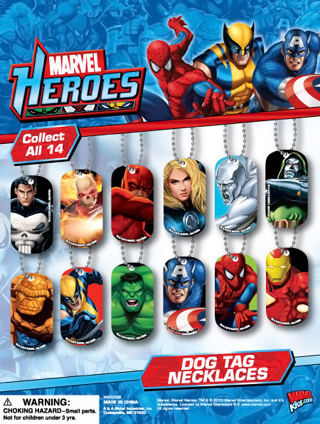 Marvel Heroes Dog Tag Necklaces