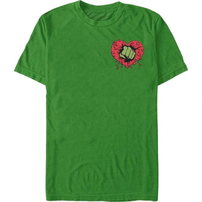Marvel Hulk Heart Smash Valentine's Day T-Shirt