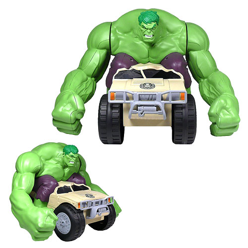 incredible hulk smashing remote control car
