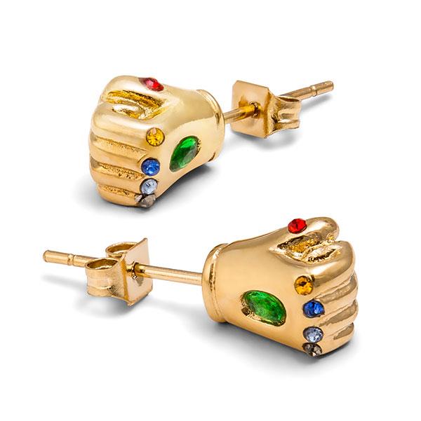 45d1e2525e6f12 Marvel Infinity Gauntlet Stud Earrings