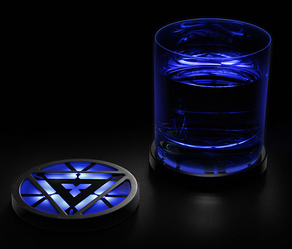 Marvel Iron Man 3 Arc Reactor Light Up Coasters