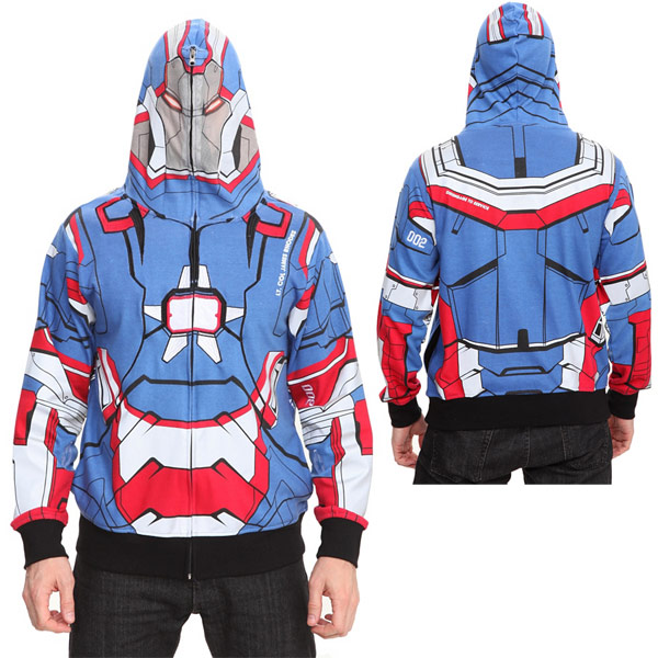 Marvel Iron Man 3 Iron Patriot Full Zip Hoodie