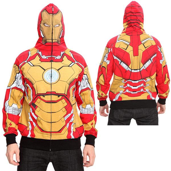 Marvel Iron Man 3 Mark 42 Full Zip Hoodie