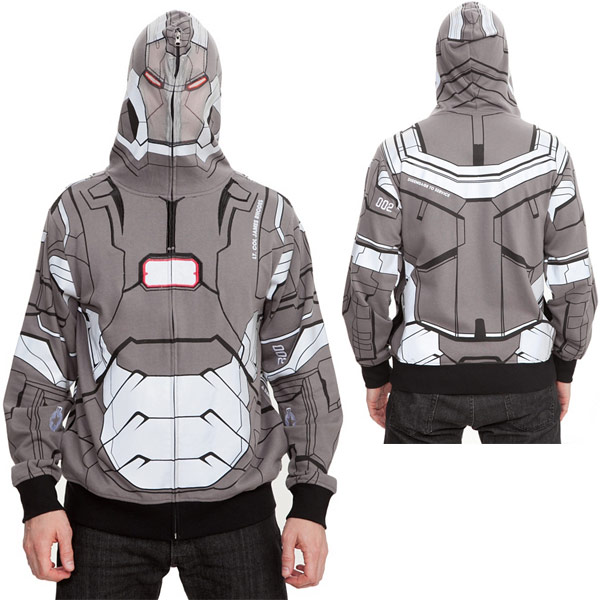 Marvel Iron Man 3 War Machine Full Zip Hoodie