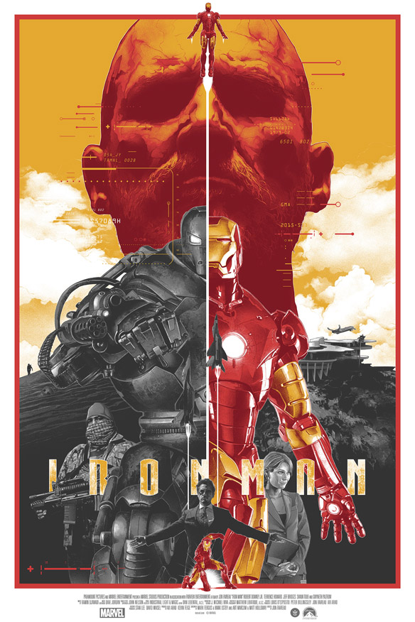 Marvel Iron Man Art Print by Gabz