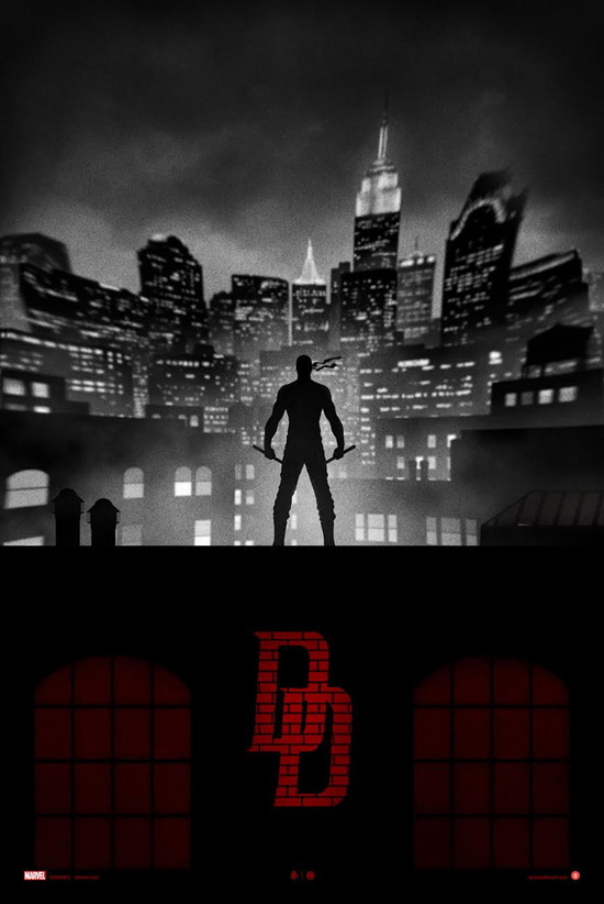 Marvel Knights Presents Daredevil Variant Art Print