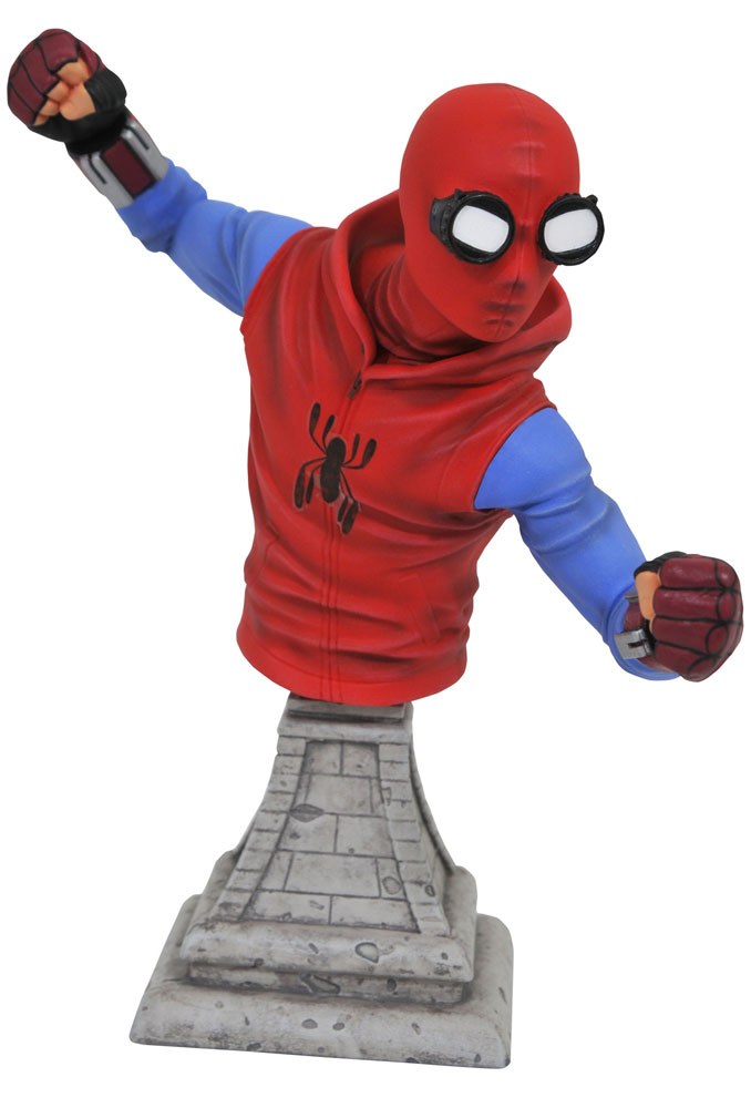 Marvel Spider-Man Homecoming Homemade Costume Spider-Man Bust