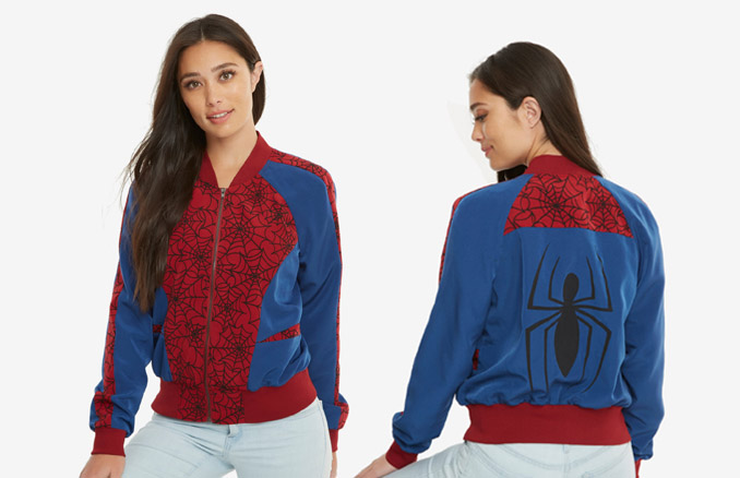 7ecb2505e Marvel Spider-Man Satin Bomber Jacket