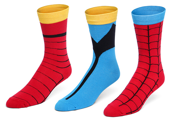 Marvel Superhero Costume Socks Set