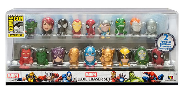 Marvel Superheroes Exclusive Eraser Set