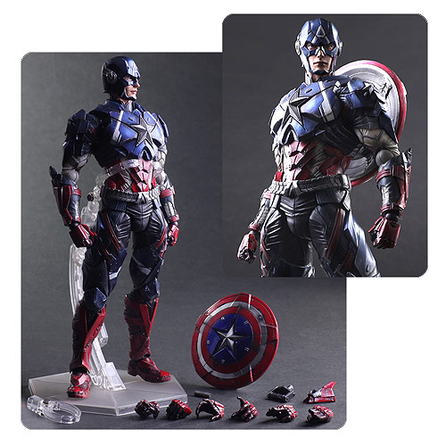 Marvel Universe Captain America Variant Play Arts Kai Action Figure
