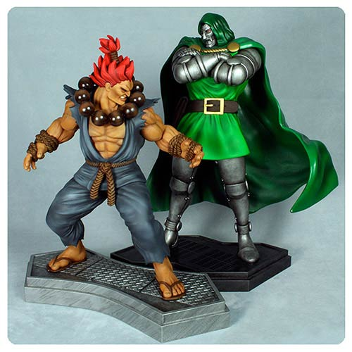 Marvel vs. Capcom 3 Dr. Doom vs. Akuma 1 4 Scale Statues