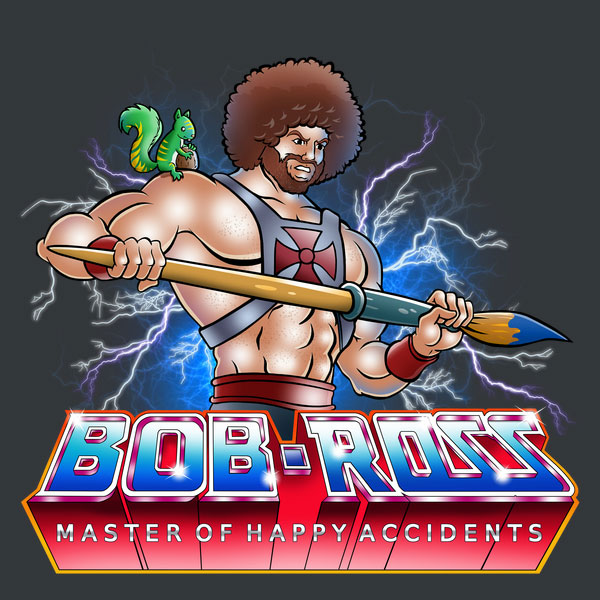 Master of Happy Accidents Bob Ross Mashup Shirt