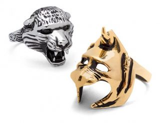 Masters of the Universe Battle Cat 2-Piece Ring Set with Removable Helmet