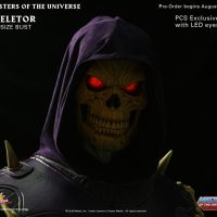 Masters of the Universe Skeletor Life-Size Bust with LED Eyes Detail