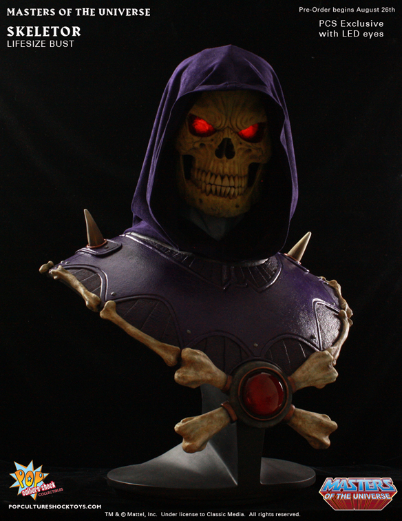 Masters of the Universe Skeletor Life-Size Bust with LED Eyes