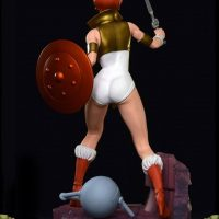 Masters of the Universe Teela PCS Exclusive Edition Statue Back