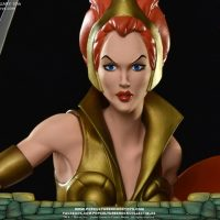 Masters of the Universe Teela PCS Exclusive Edition Statue Face Detail