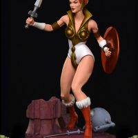Masters of the Universe Teela PCS Exclusive Edition Statue Left Angle