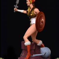 Masters of the Universe Teela PCS Exclusive Edition Statue Left Side